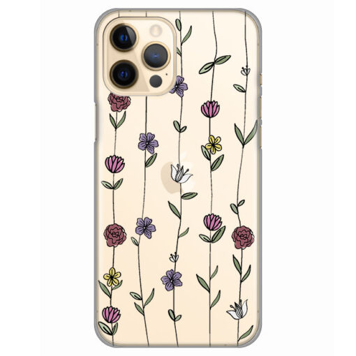 silikonski ovitek za iphone 12 pro max flowers