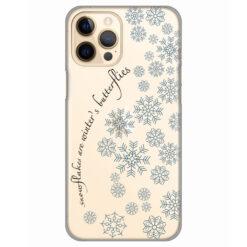 silikonski ovitek za iphone 12 pro snowflakes