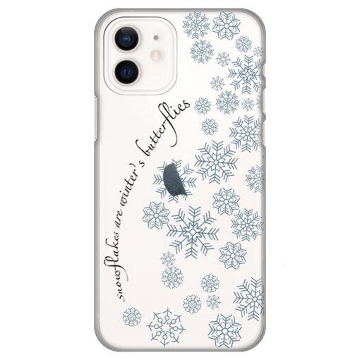 silikonski ovitek za iphone 12 snowflakes