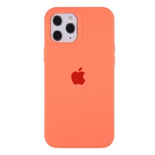 apple silikonski ovitek za iphone 12 12pro salmon