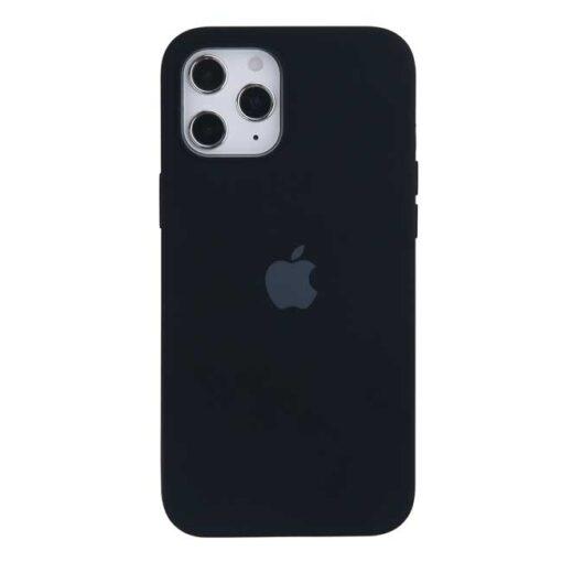 apple silikonski ovitek za iphone 12 mini crna