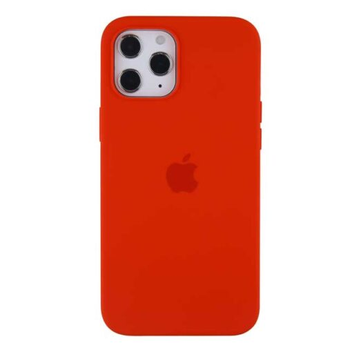 apple silikonski ovitek za iphone 12pro max rdeca