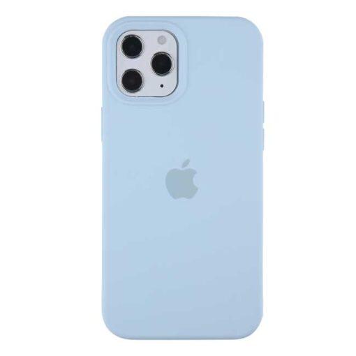 apple silikonski ovitek za iphone 12pro max svetlo modra
