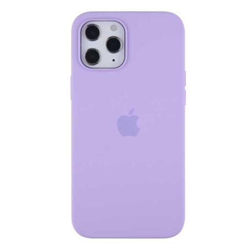 apple silikonski ovitek za iphone 12pro max svetlo vijolicna