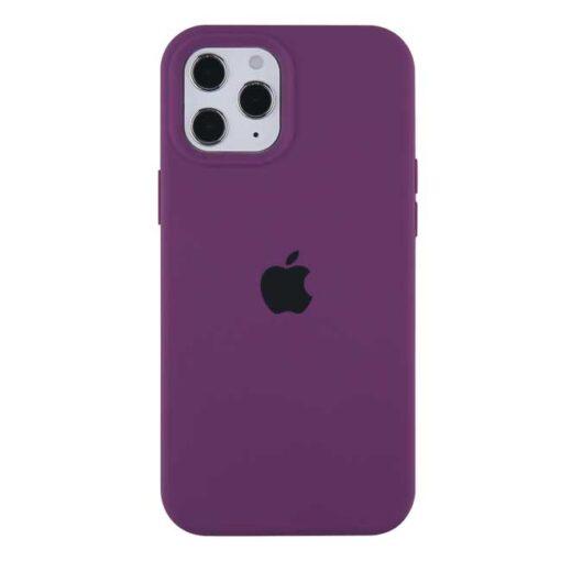 apple silikonski ovitek za iphone 12pro max temno vijolicna