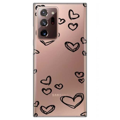 ovitek black hearts za samsung galaxy note 20 ultra