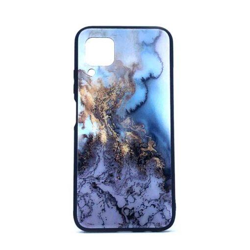 ovitek glass za huawei p40 lite blue marble