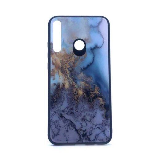 ovitek glass za huawei p40 lite e blue marble
