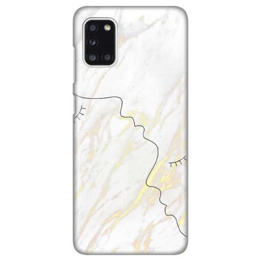 ovitek white marble faces za samsung galaxy a31