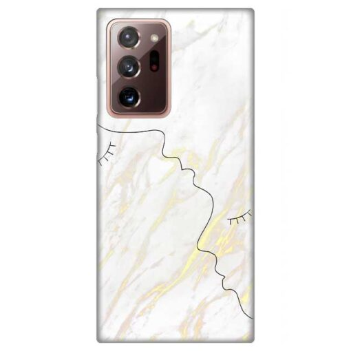 ovitek white marble faces za samsung galaxy note 20 ultra