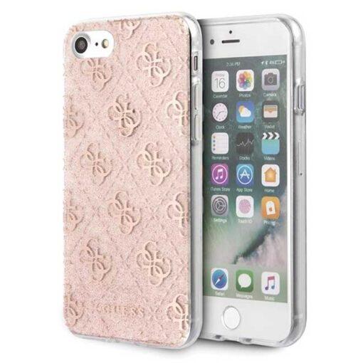 ovitek Guess za Phone 7 8 SE 2020 hard case 4G Glitter roza