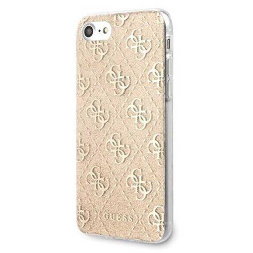 ovitek Guess za Phone 7 8 SE 2020 hard case 4G Glitter zlata 1