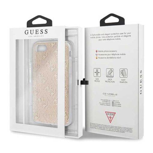 ovitek Guess za Phone 7 8 SE 2020 hard case 4G Glitter zlata 2