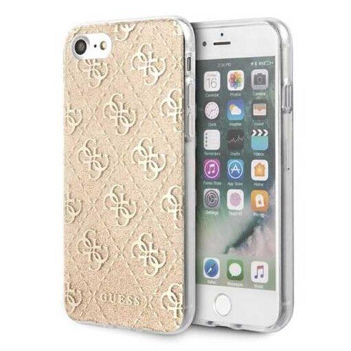 ovitek Guess za Phone 7 8 SE 2020 hard case 4G Glitter zlata