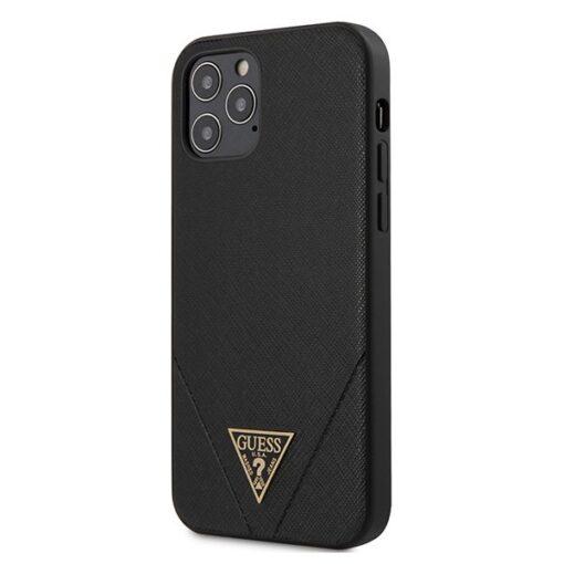 ovitek Guess za iPhone 12 Pro Max 6 7 hardcase Saffiano crna