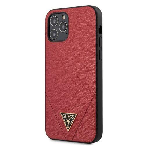 ovitek Guess za iPhone 12 Pro Max 6 7 hardcase Saffiano rdeca