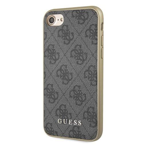 ovitek Guess za iPhone 7 8 SE 2020 hard case 4G Collection siva 1
