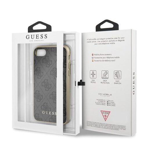 ovitek Guess za iPhone 7 8 SE 2020 hard case 4G Collection siva 2