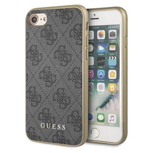 ovitek Guess za iPhone 7 8 SE 2020 hard case 4G Collection siva