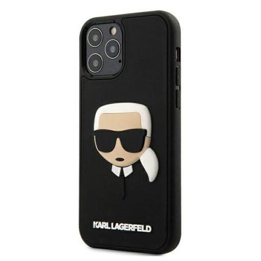 ovitek Karl Lagerfeld za iPhone 12 Pro Max 6 7 3D Karls Head crna 1