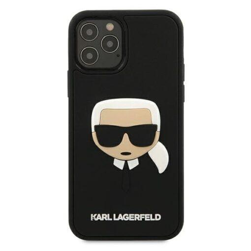 ovitek Karl Lagerfeld za iPhone 12 Pro Max 6 7 3D Karls Head crna 2
