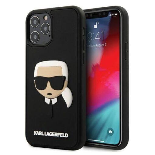 ovitek Karl Lagerfeld za iPhone 12 Pro Max 6 7 3D Karls Head crna