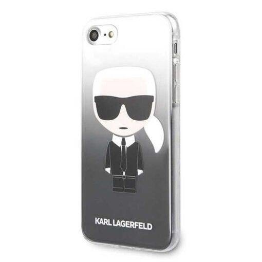 ovitek Karl Lagerfeld za iPhone 7 8 SE 2020 Gradient Ikonik Karl crna 1