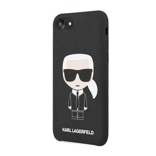 ovitek Karl Lagerfeld za iPhone 7 8 SE 2020 Silicone Iconic crna 1 1