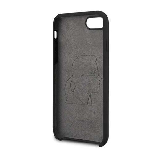 ovitek Karl Lagerfeld za iPhone 7 8 SE 2020 Silicone Iconic crna 2 1