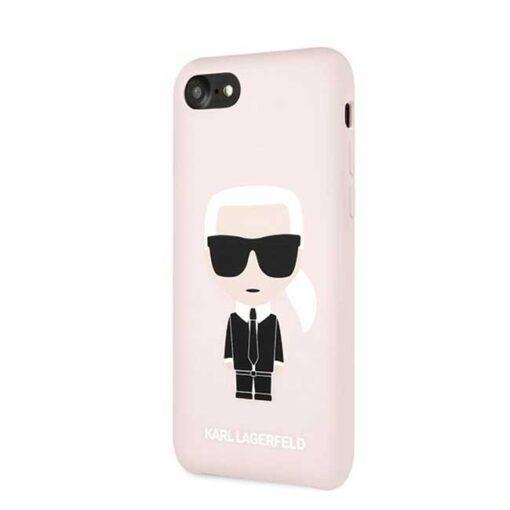 ovitek Karl Lagerfeld za iPhone 7 8 SE 2020 Silicone Iconic roza 1