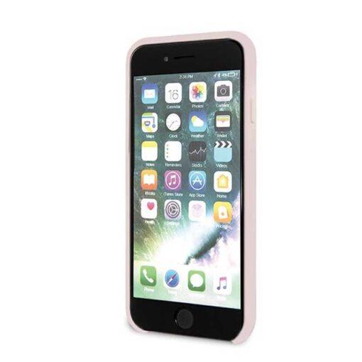 ovitek Karl Lagerfeld za iPhone 7 8 SE 2020 Silicone Iconic roza 3