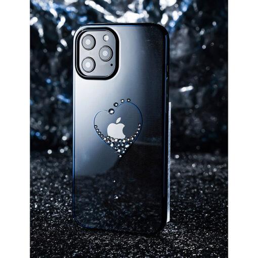ovitek Kingxbar original swarovski kristali za iPhone 12 mini crna 2