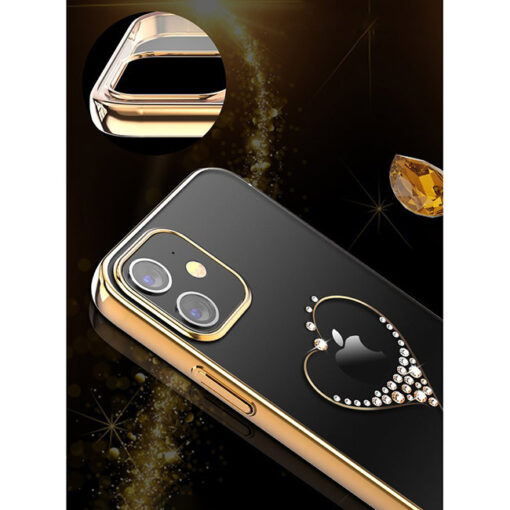 ovitek Kingxbar original swarovski kristali za iPhone 12 pro max zlata 4