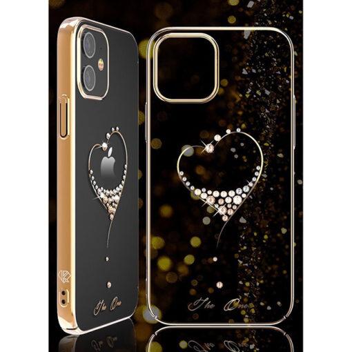 ovitek Kingxbar original swarovski kristali za iPhone 12 pro zlata 2