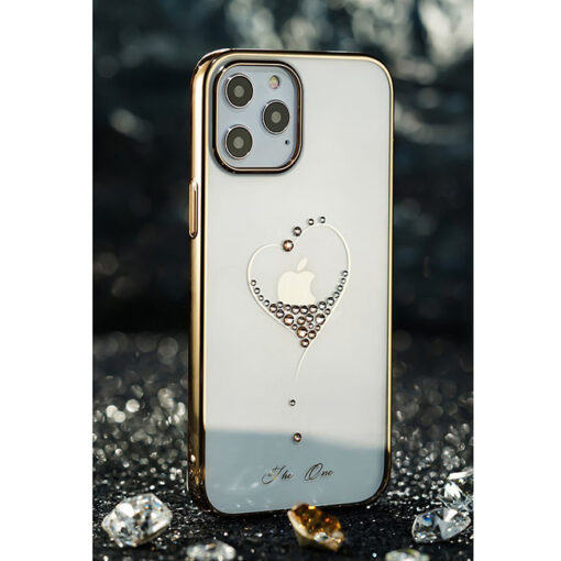 ovitek Kingxbar original swarovski kristali za iPhone 12 pro zlata 3