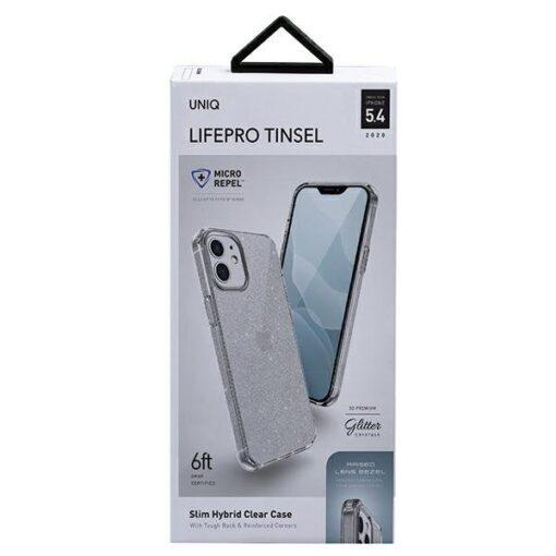 ovitek UNIQ z blescicami za iPhone 12 mini transparent 3