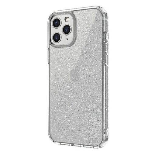 ovitek UNIQ z blescicami za iPhone 12 pro max transparent 1