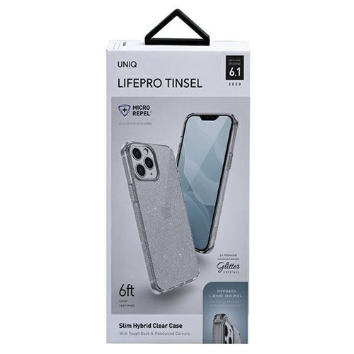 ovitek UNIQ z blescicami za iPhone 12 transparent 3