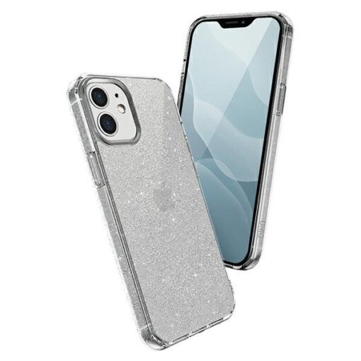 ovitek UNIQ z blescicami za iPhone 12 transparent