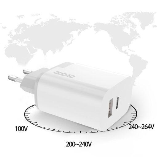 polnilec za telefone EU adapter USB USB Type C Quick Charge 3 0 3A 22 5W bela 2