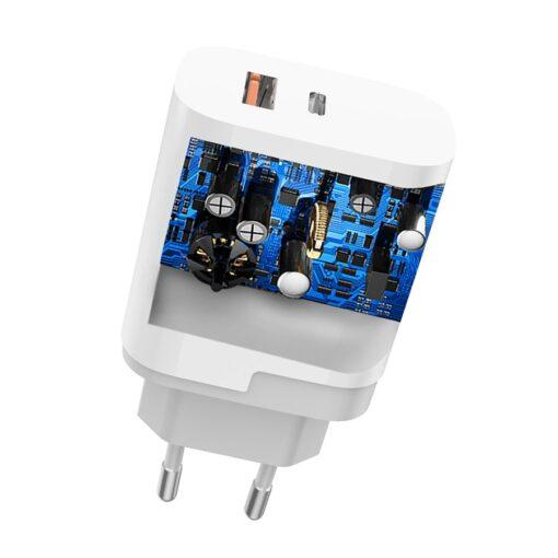 polnilec za telefone EU adapter USB USB Type C Quick Charge 3 0 3A 22 5W bela 4