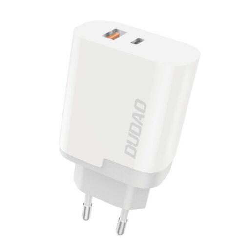 polnilec za telefone EU adapter USB USB Type C Quick Charge 3 0 3A 22 5W bela