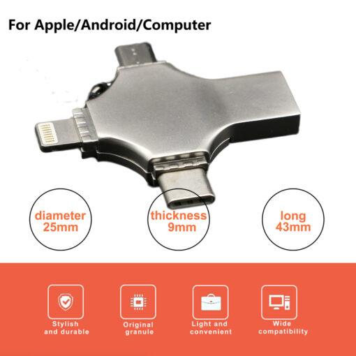 4 v 1 USB kljuc OTG External Storage Memory Stick 4