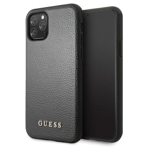 Etui Guess ovitek iPhone 11 Pro Max crna black hard case Iridescent