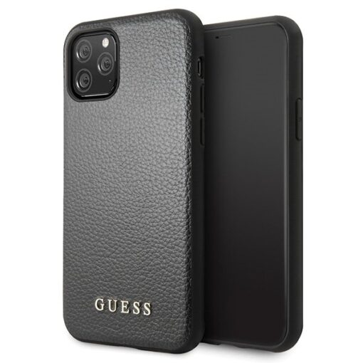 Etui Guess ovitek iPhone 11 Pro crna black hard case Iridescent