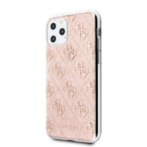 Etui Guess ovitek iPhone 11 Pro roza pink hard case 4G Glitter 1