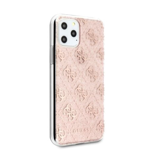 Etui Guess ovitek iPhone 11 Pro roza pink hard case 4G Glitter 2