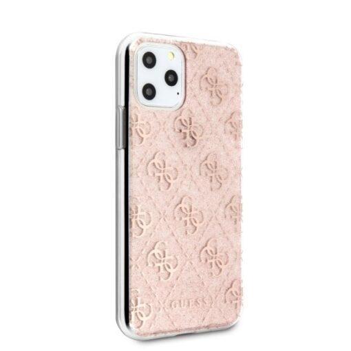Etui Guess ovitek iPhone 11 Pro roza pink hard case 4G Glitter 2