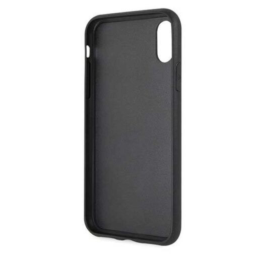 Etui Karl Lagerfeld iPhone X Xs czarny black crna Iconic Glitter Karls Head 2