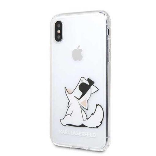 Etui Karl Lagerfeld ovitek iPhone X Xs hardcase transparent Choupette Fun 1